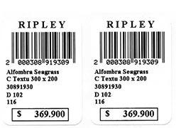 Etiquetas para impressora código de barras