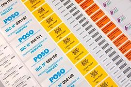 Etiquetas adesivas para alimentos congelados