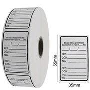 Etiquetas adesivas rolo
