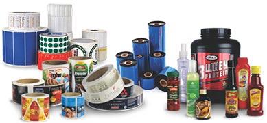 Etiquetas plásticas adesivas personalizadas