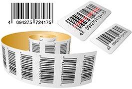 Bobinas de etiquetas adesivas
