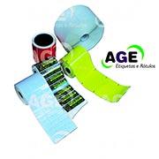 Etiquetas adesivas coloridas rolo