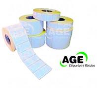 Etiquetas adesivas em folha
