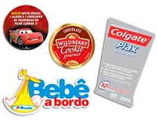 Etiquetas adesivas redondas coloridas